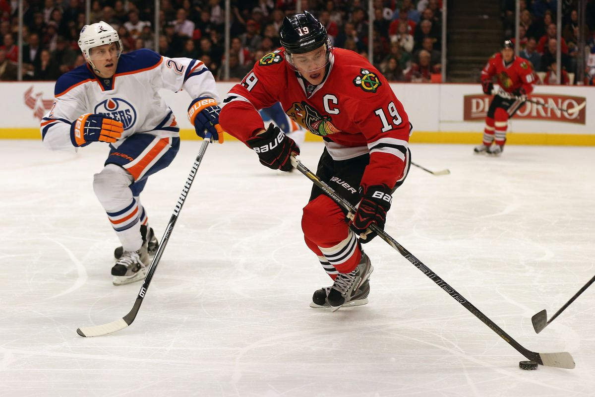 The Hawks captain dominated the Oilers tonight.