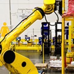 An Automation unit, called Robo-Stow, is pictured at an Amazon fulfillment facility. Gov. Gary Herbert announced Thursday, June 8, 2017, that Amazon will be building a new, $200 million fulfillment center in Utah.