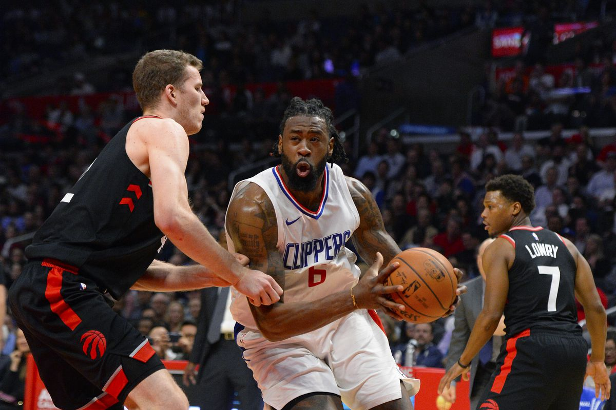 5b75fd157c4815 Raptors have discussed DeAndre Jordan trade with Clippers