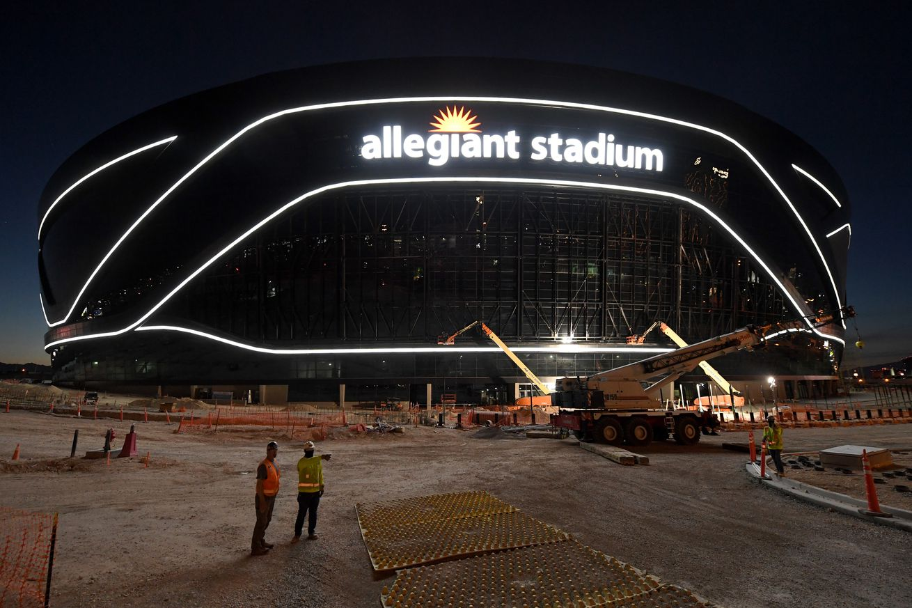 Allegiant Stadium Under Construction