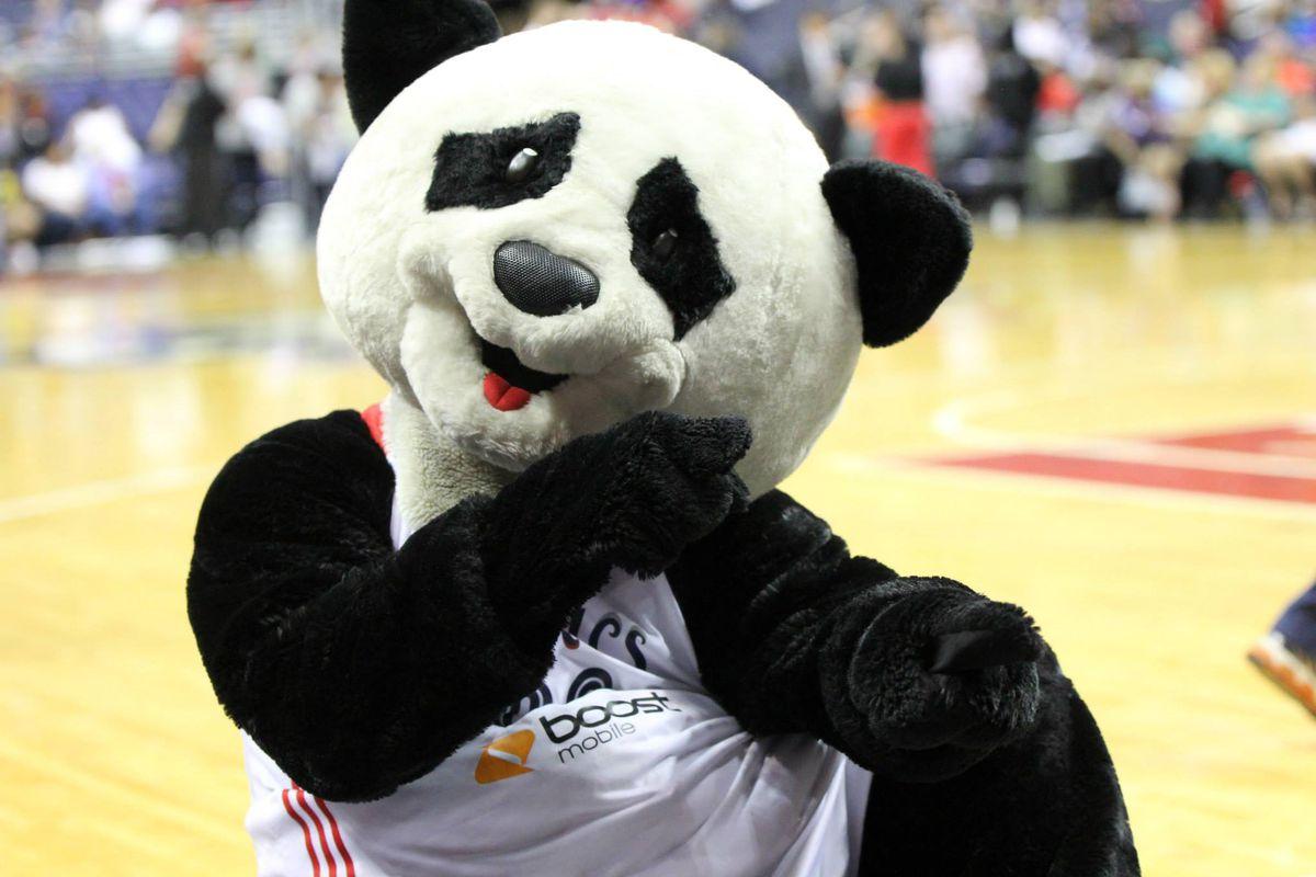 PLEASE SAY THAT BRADLEY BEAL IS IN THAT PANDA COSTUME!