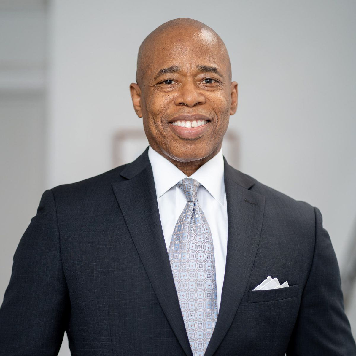 A headshot of NYC mayoral candidate Eric Adams.