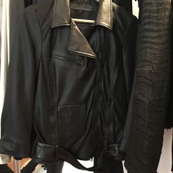 Dromer perforated leather jacket, $150