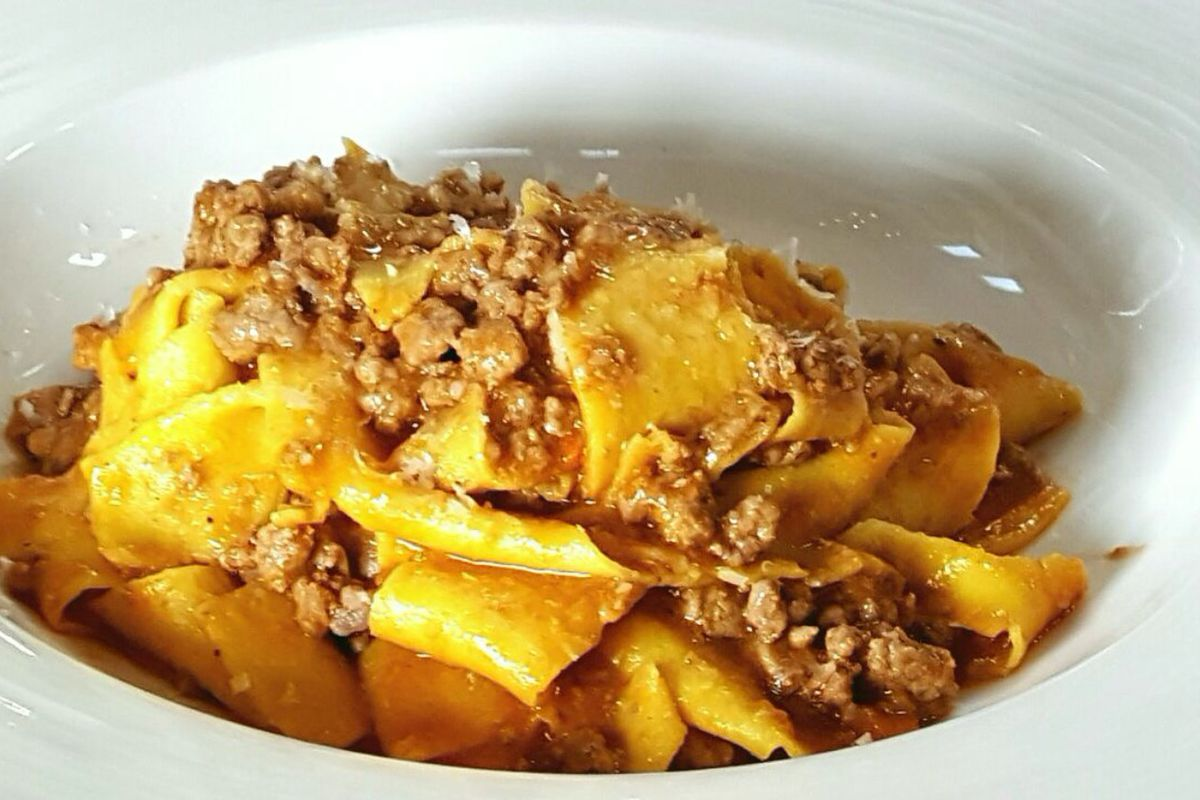 A pasta dish