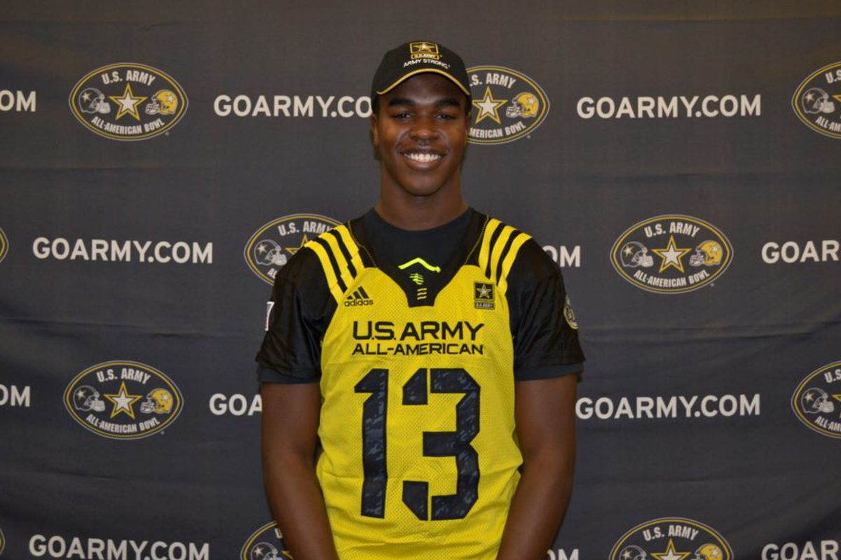 Tyrone Swoopes in his US Army jersey