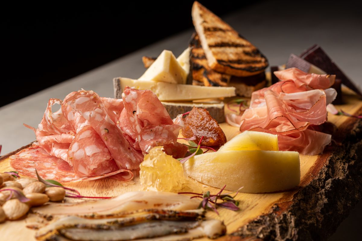 Charcuterie board at Enoteca 5 in Pacific Palisades