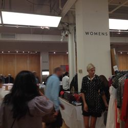 The split between women's and men's merchandise at the entrance