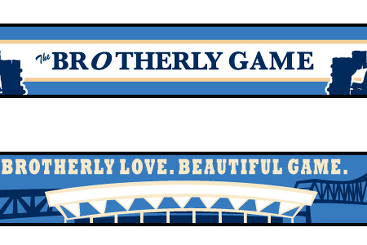 The Brotherly Game's scarf, designed by Kreider Designs.