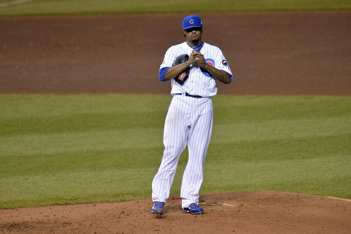 Edwin Jackson wonders if the Cubs will ever score any runs.