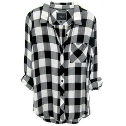 """Rails Hunter buttondown, <a href=""""http://www.railsclothing.com/collections/all-products/products/hunter-black-white-check""""target=""""_blank"""">$128</a>"""