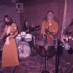 """The commune's experimental psychedelic rock band, Ya Ho Wa 13, also offered some interesting style. [Image via <a href=""""http://movies.nytimes.com/2013/05/01/movies/the-source-family-a-documentary-on-father-yod.html""""target=""""_blank"""">New York Times</a>]"""