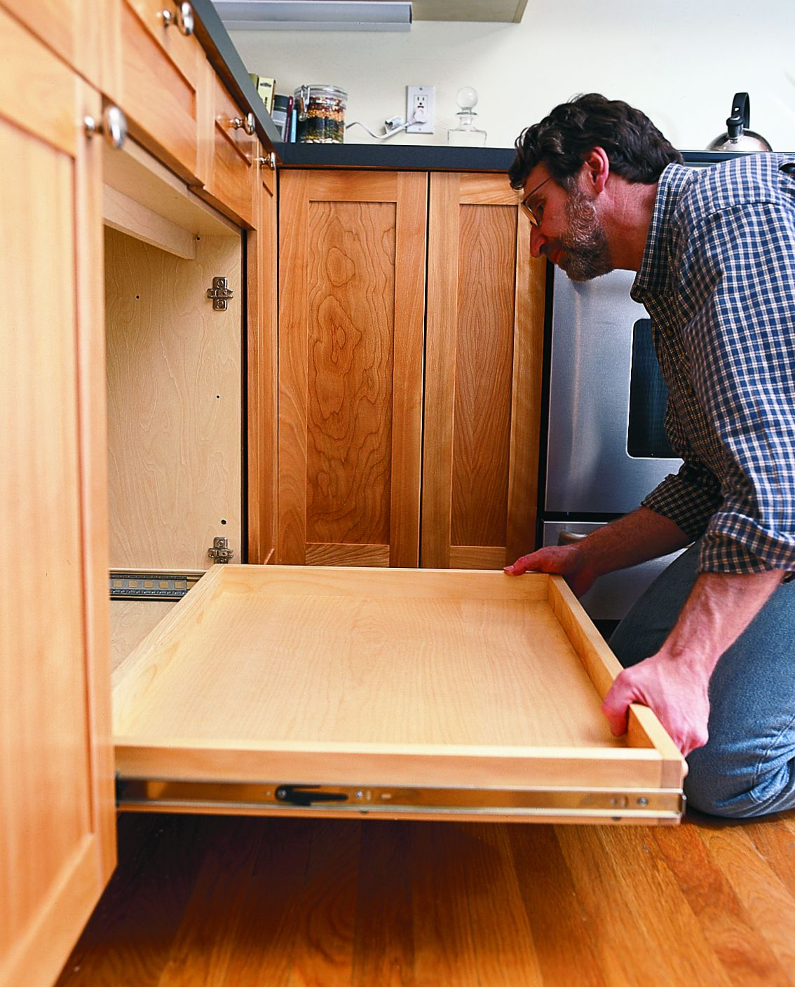 How To Install A Pull Out Kitchen Shelf This Old House