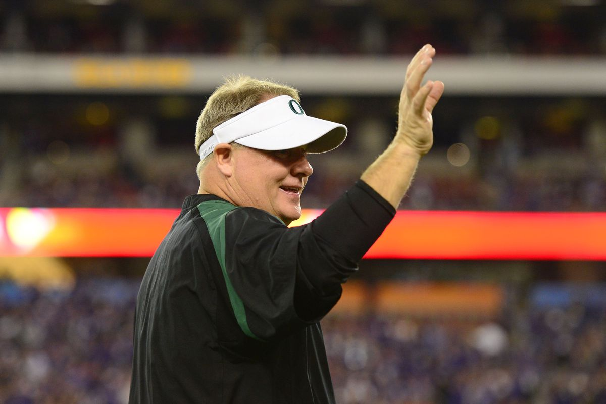 Chip Kelly is waving goodbye to Oregon after all.
