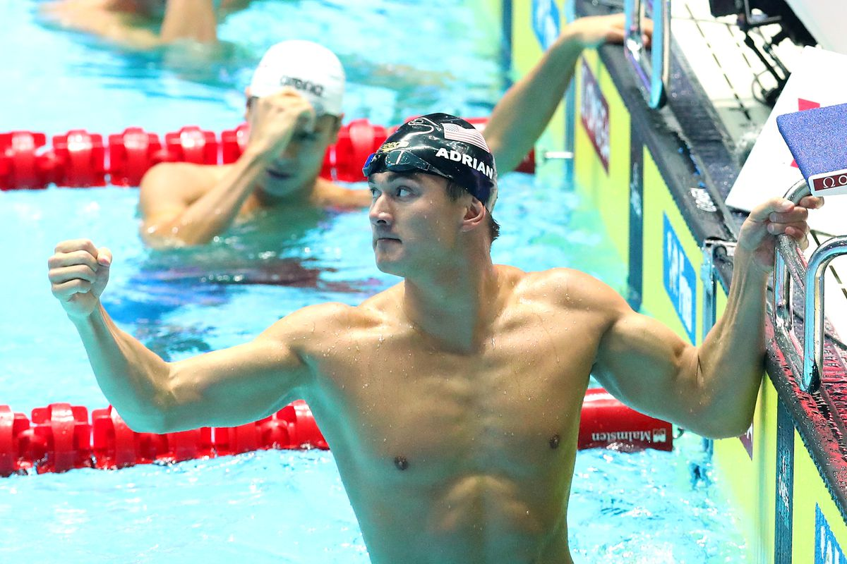 Cal alum Nathan Adrian leads USA to Relay Gold in Day 1 of FINA World Swimming Championships