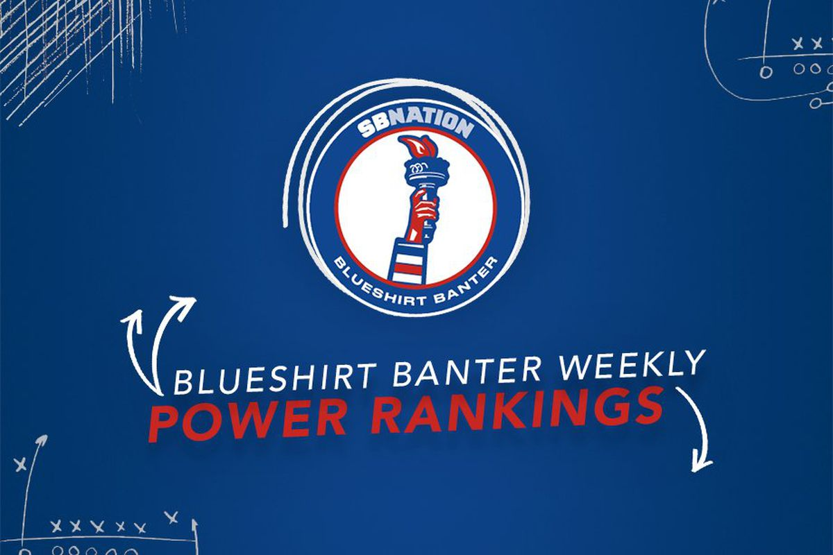Blueshirt Banters New York Rangers Power Rankings October 15th