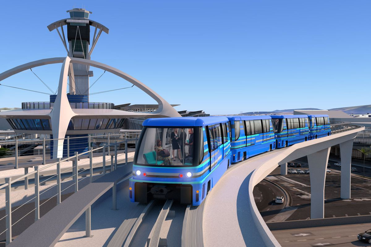 Construction on LAX people mover shuttle kicks off - Curbed LA on