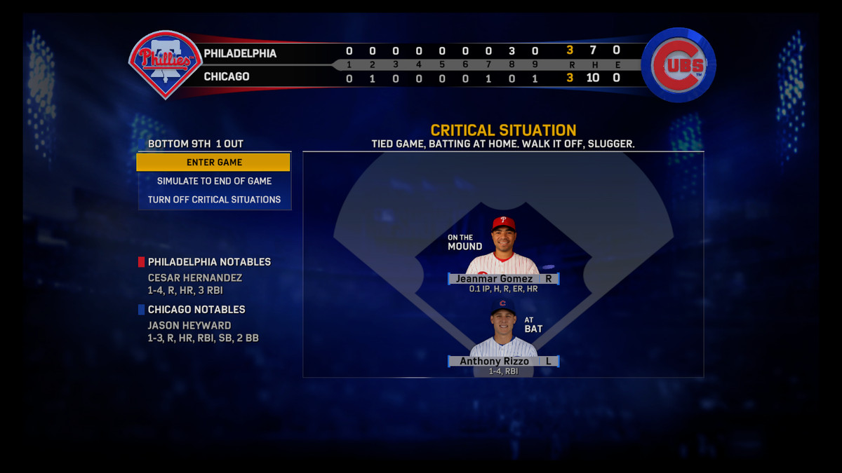 MLB The Show 17 - Critical Situation Phillies/Cubs