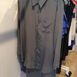 Silk shirt dress, $100