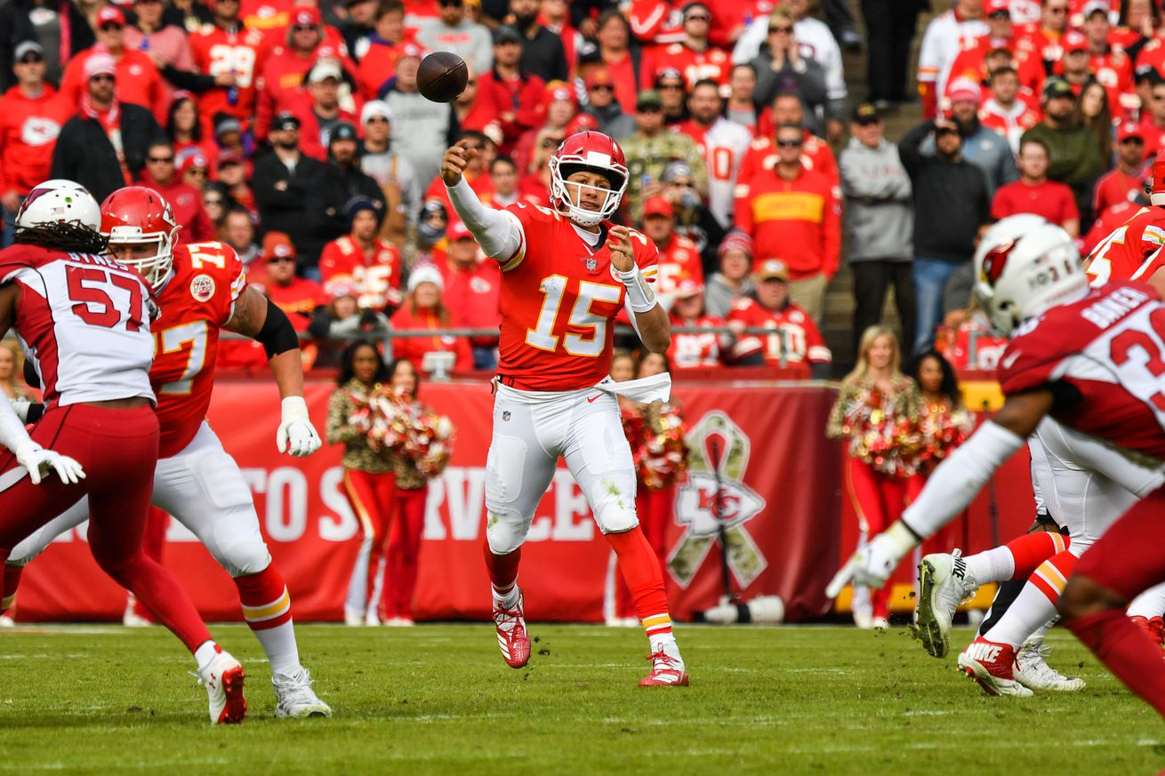 Patrick Mahomes' throw to break franchise touchdown record was one not many could make