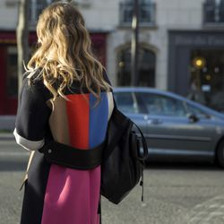 Striped coats save the day at PFW.