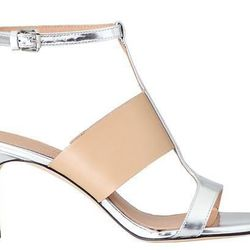"""<b>Sigerson Morrison</b> Kaya in Nude/Silver, <a href=""""http://piperlime.gap.com/browse/product.do?cid=35979&vid=1&pid=974526002"""">$375</a>"""