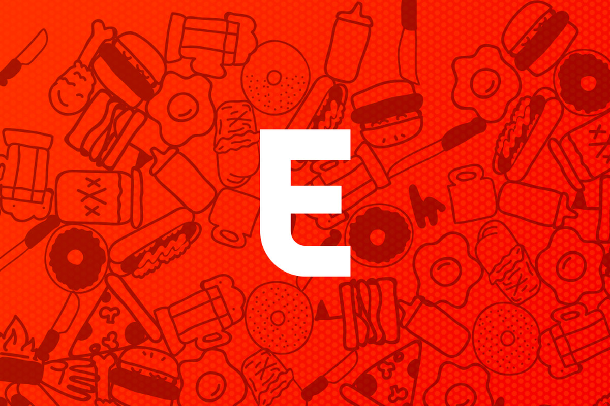 Placeholder Photo for Eater Detroit of a red background with the Eater E in the center in white.