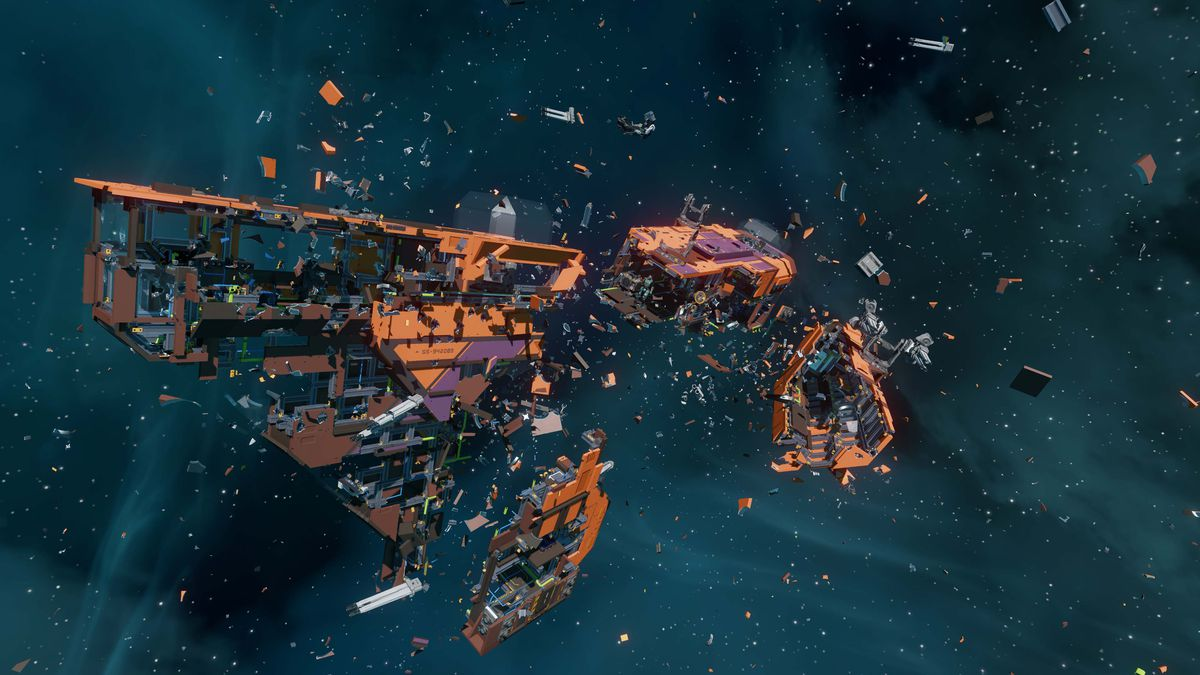 Ships will be fully destructible and parts can be used to recover in other ships and structures.