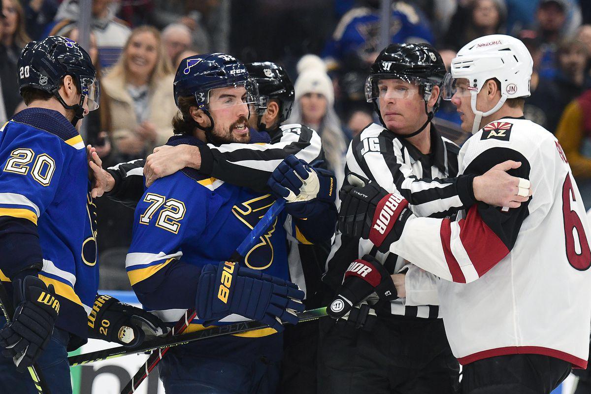 NHL: FEB 20 Coyotes at Blues