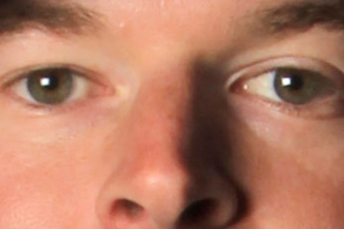 These eyes look human, but that's just how the Klubot was designed. - PHOTO