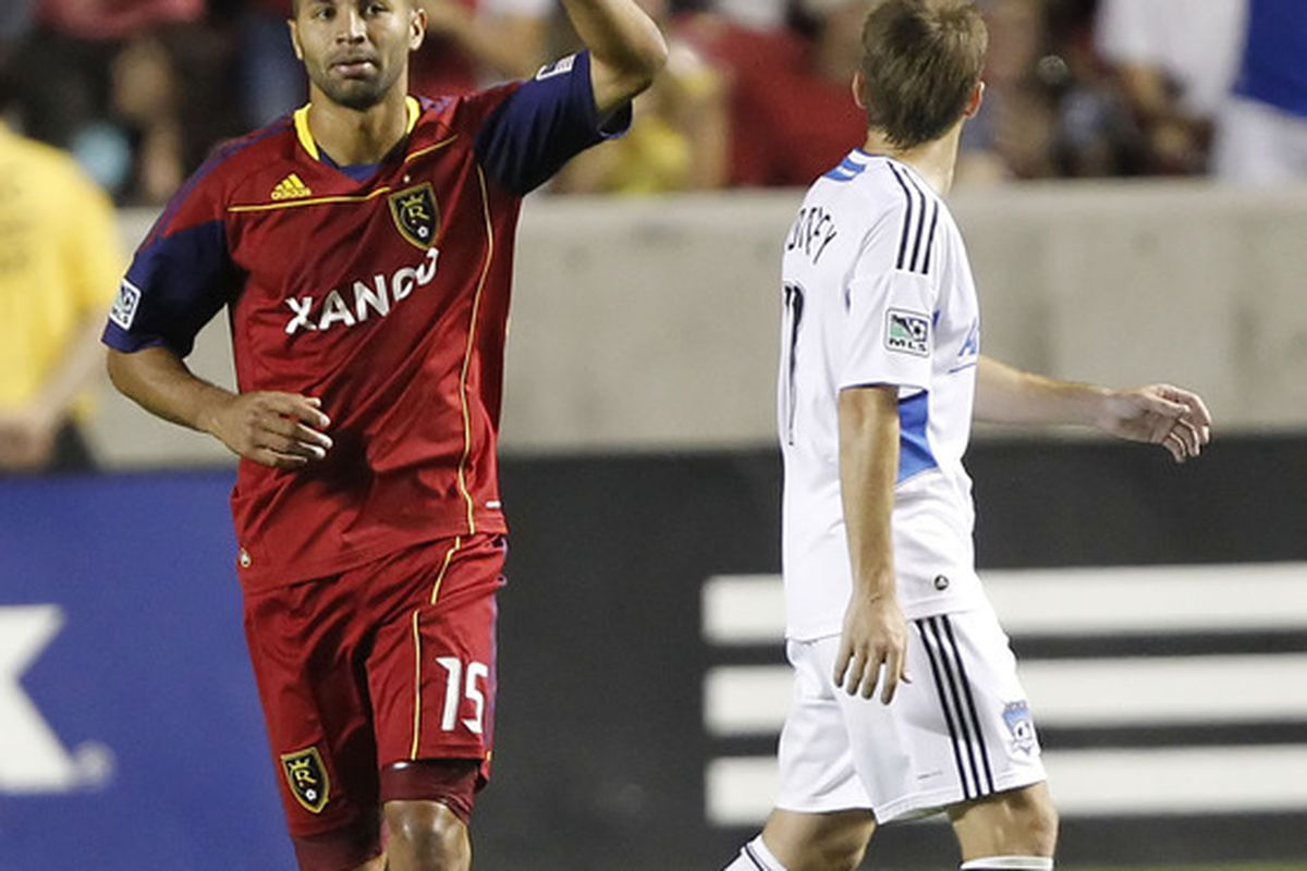 Alvaro Saborio utilizes a bit of chicanery to dupe the referee into awarded a red card to San Jose Earthquakes defender Bobby Burling and sparking Real Salt Lake to a 4-0 victory.