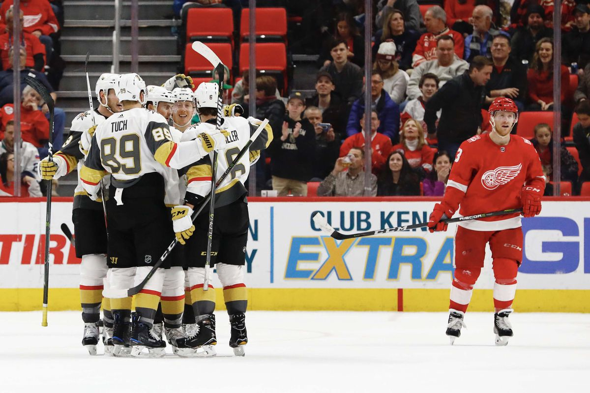 New Faces In New Places As Tomas Tatar Returns To Town Golden Knights Rout Red Wings 4 0 Winging It In Motown
