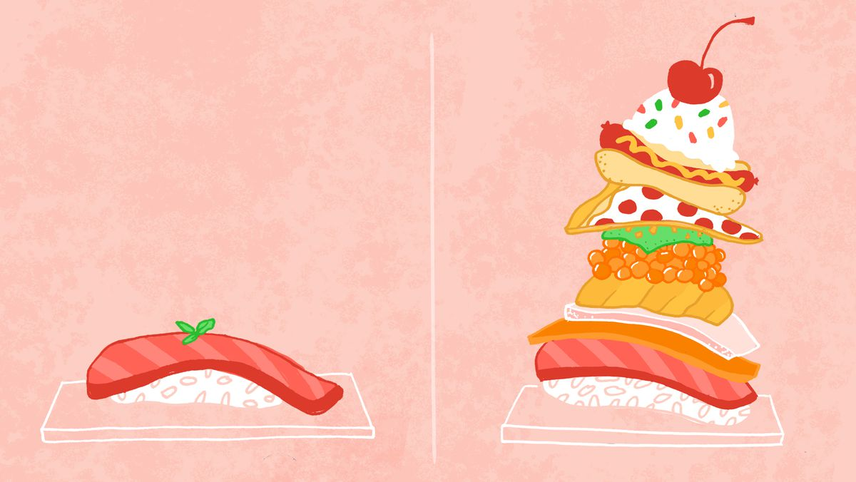 Instagram sushi illustration