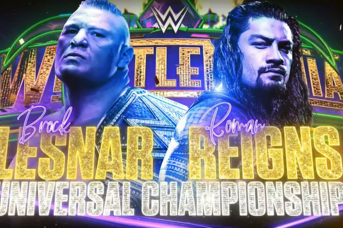 roman reigns vs brock lesnar official for wrestlemania 34