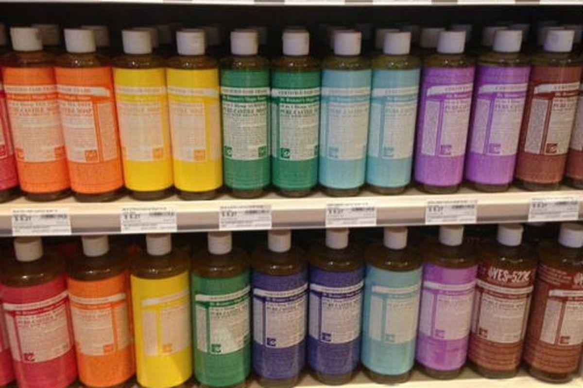 "Dr. Bronner's castile soap abounds. Image credit:  <a href=""https://www.facebook.com/weaversway"">Weaver's Way/Facebook</a>"