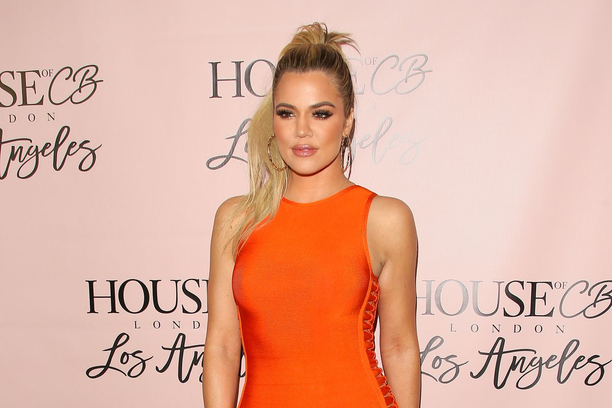 Khloe Kardashian in a House of CB dress at the brand's flagship store launch.