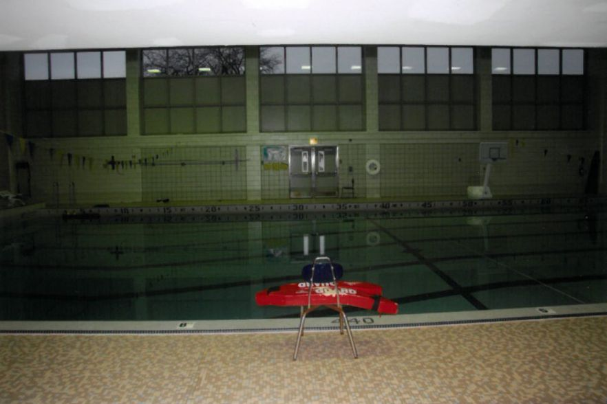 The pool at Kennedy High School where Rosario Israel Gomez drowned. | Chicago Police Department
