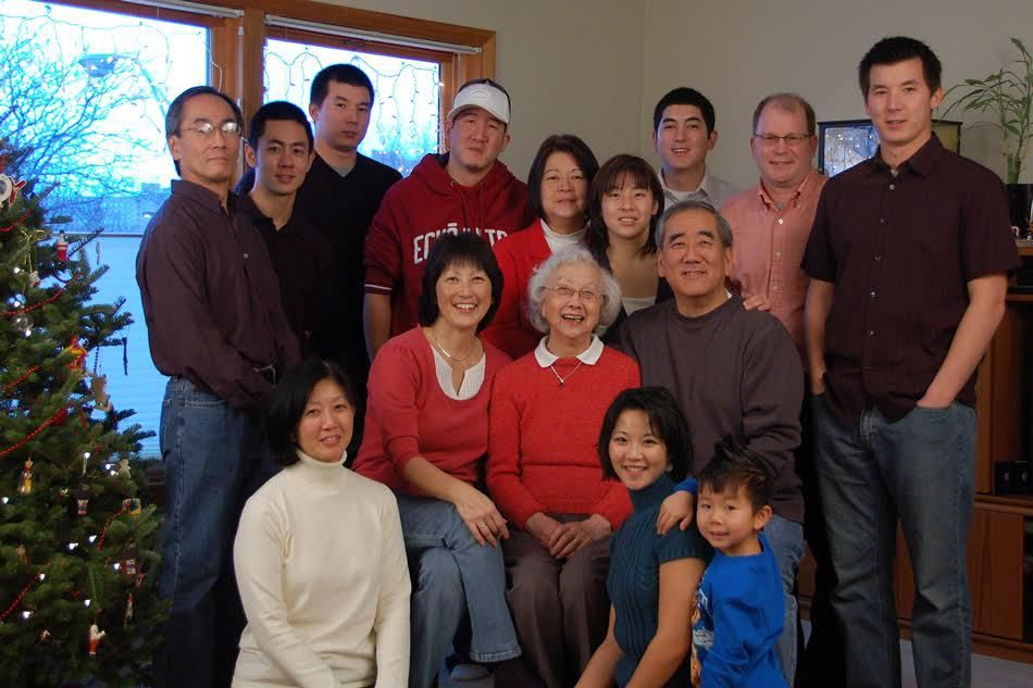 """Rose Okabe and her extended family. Food always """"tasted twice as good"""" with family, she liked to say.   Provided photo"""