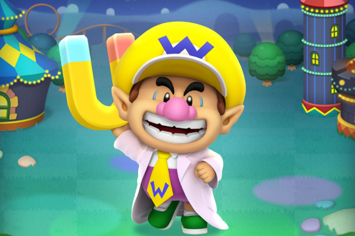 artwork of Dr. Baby Wario in Dr. Mario World