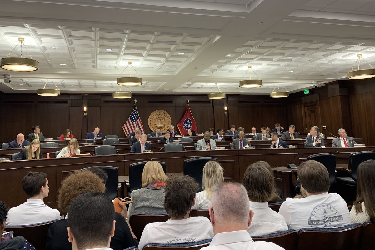 The 23-member House Education Committee considered Gov. Bill Lee's education savings account proposal Wednesday at the State Capitol. (Photograph courtesy of TOSS)