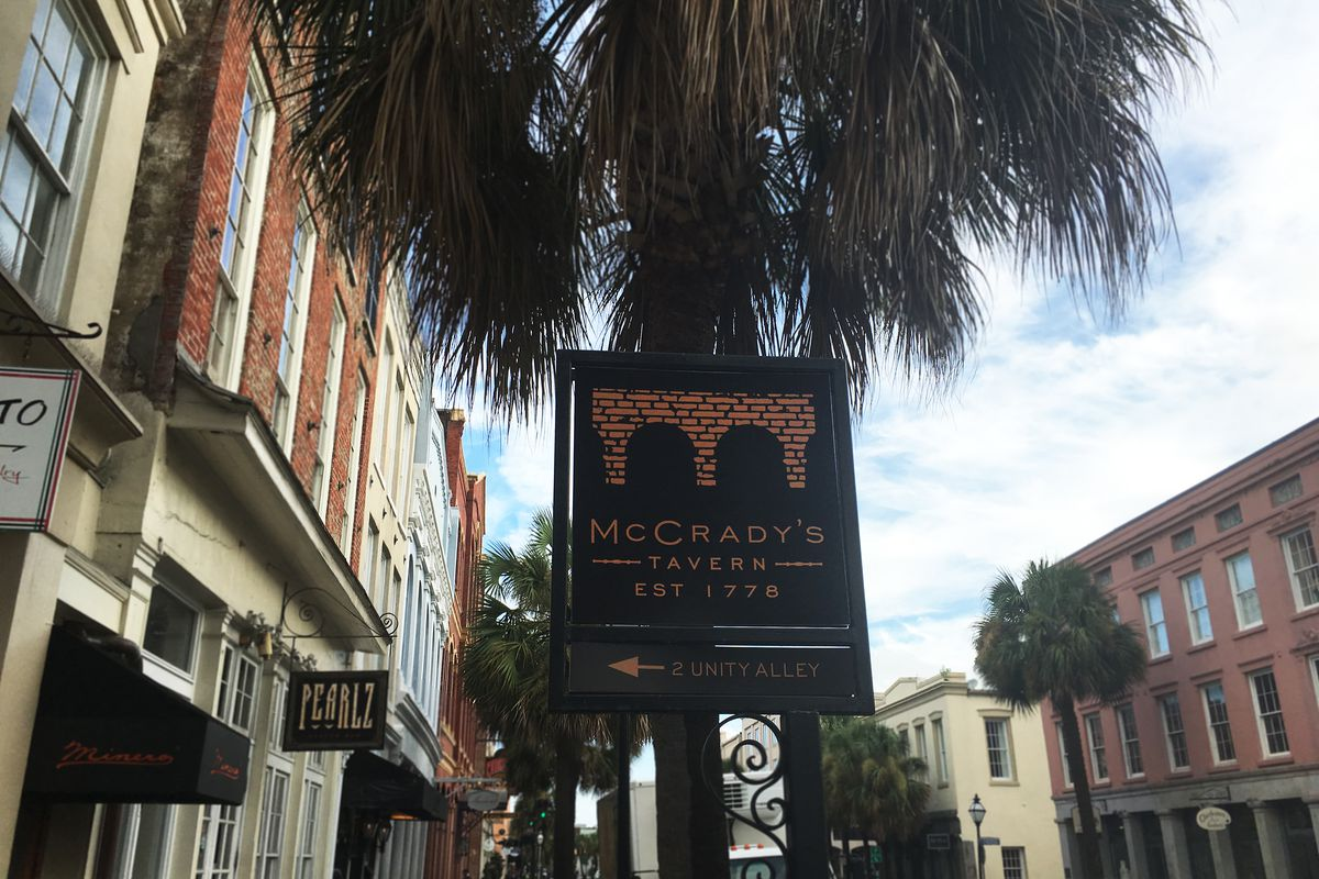 Sign for McCrady's Tavern