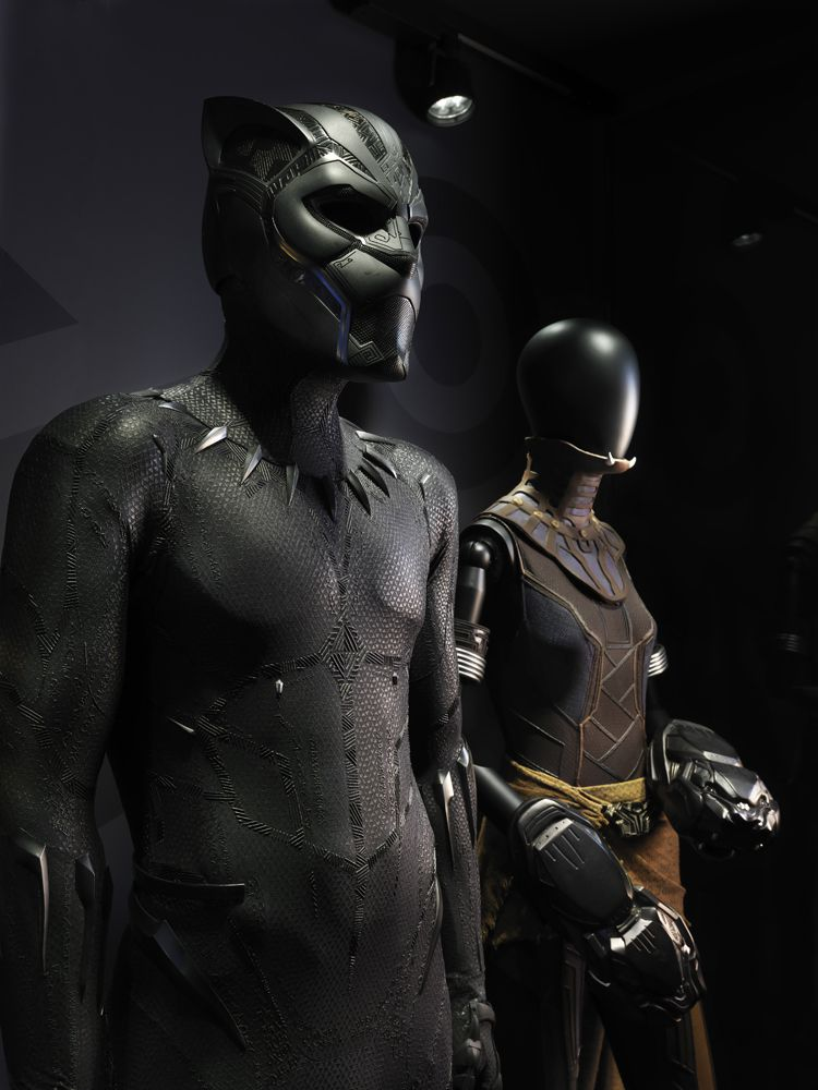 """""""Black Panther"""" memorabilia is featured in """"Marvel: Universe of Super Heroes"""" at the Museum of Science and Industry."""
