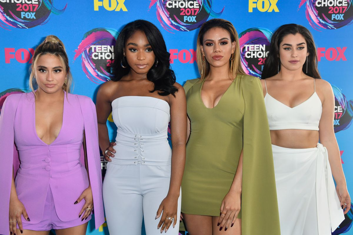 Ally Brooke, Normani Kordei, Dinah Jane and Lauren Jauregui of Fifth Harmony attends the Teen Choice Awards 2017 at Galen Center on August 13, 2017 in Los Angeles, California.
