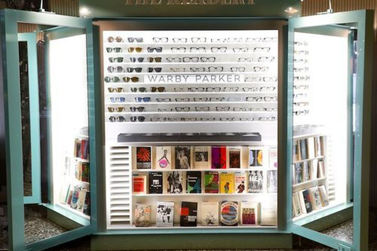 """Warby Parker's """"Readery"""" in all it's glory, via Racked NY"""