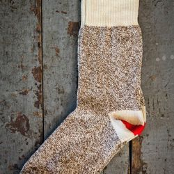 These are the socks that the famous Sock Monkey was made of. Made right here in the USA by Fox River Mills, they're $15 and fabulous.