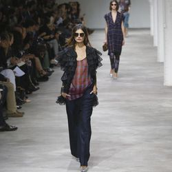 Models wear creations by Belgian fashion designer Dries van Noten for the fashion house's Spring Summer 2013 ready to wear collection, for Fashion Week, in Paris, Wednesday, Sept. 26, 2012.