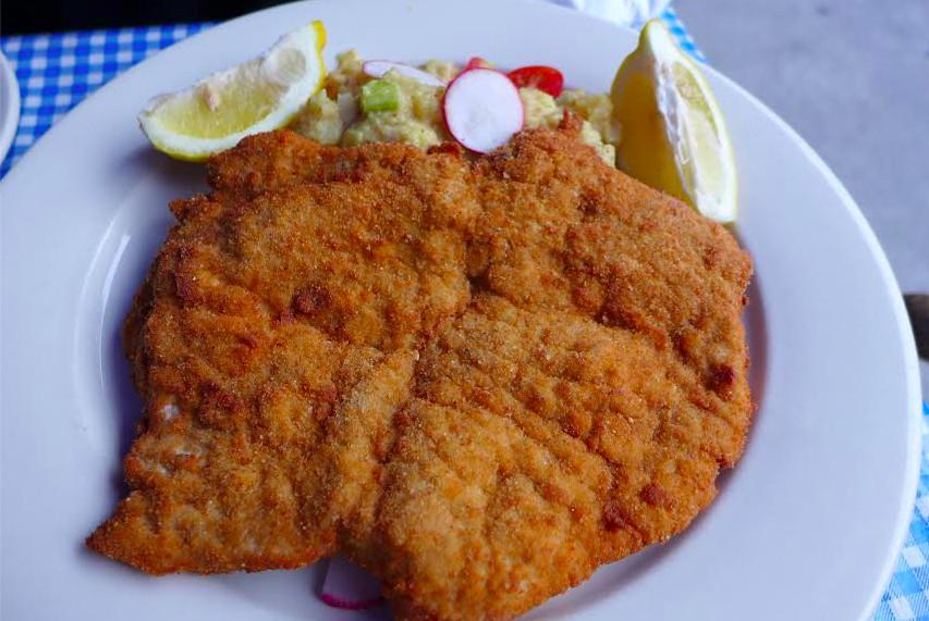 Schnitzel at Zum Schneider