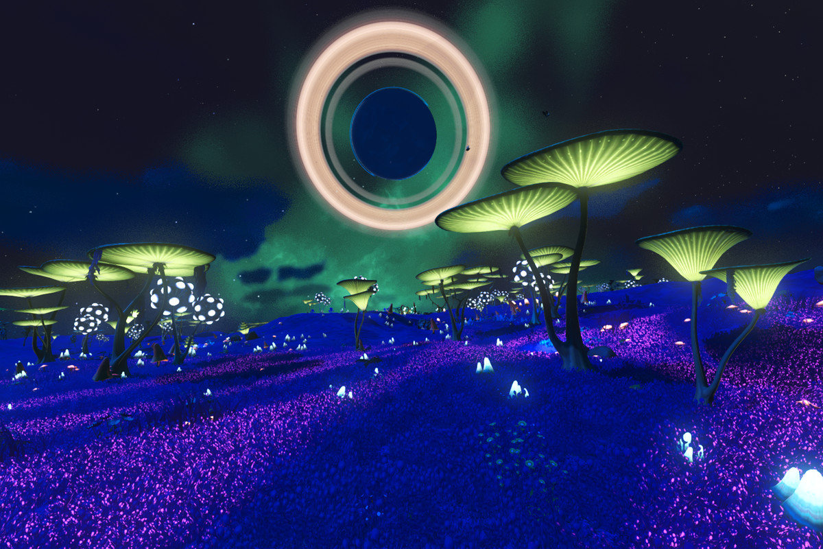 Lepios, one half of the dual rave planets in No Man's Sky.