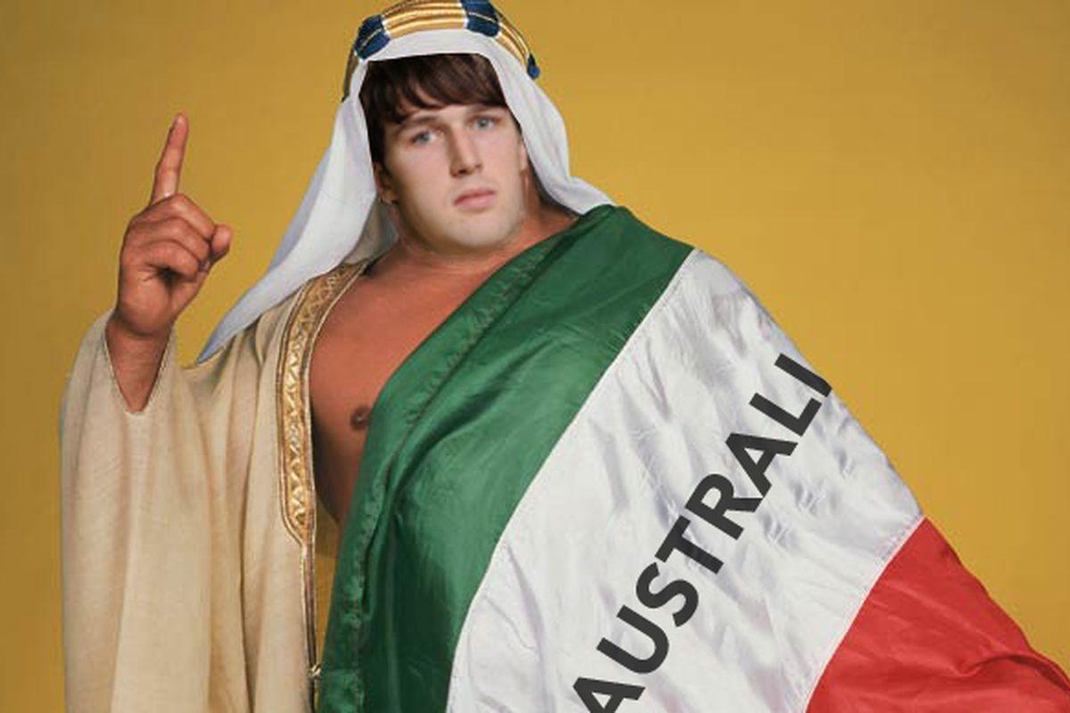 "A.J. ""The Australian Sheik"" Ogilvy. Feeding off your ""U-S-A"" taunts since 2007."