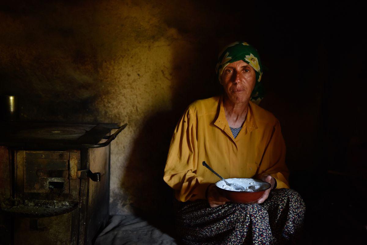 """Hatidze Muratova in the documentary """"Honeyland."""""""