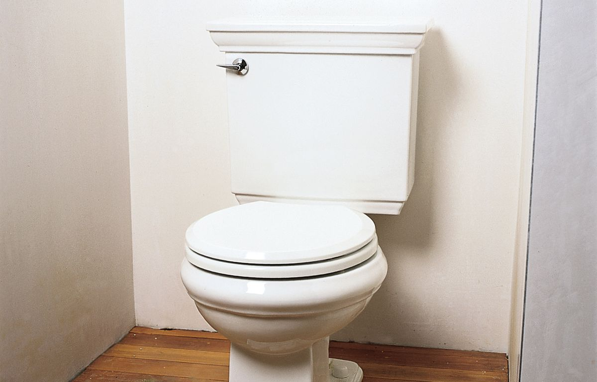 Installed Toilet Bowl